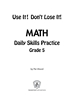 Daily Math Practice 5th Grade: Use It! Don't Lose It! - IP6130